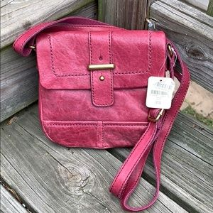 NWT Fossil berry colored crossbody